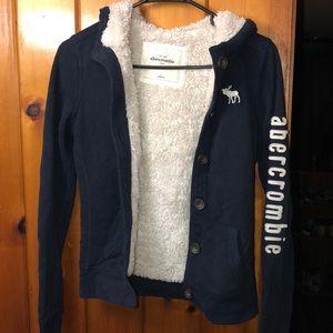Abercrombie furry sweatshirt